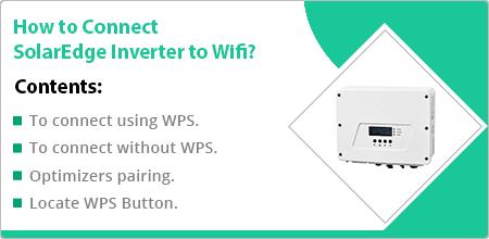 connect solaredge inverter to wifi