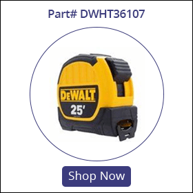 dwht36107 dewalt 25 tape measure