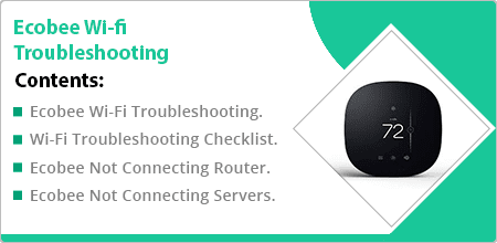 ecobee wifi troubleshooting guide