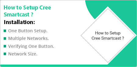 how to setup cree smartcast technology