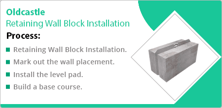 oldcastle retaining wall block installation guide