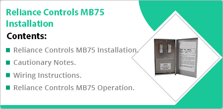 reliance controls mb75 installation guide