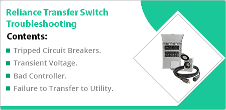reliance transfer switch troubleshooting guide