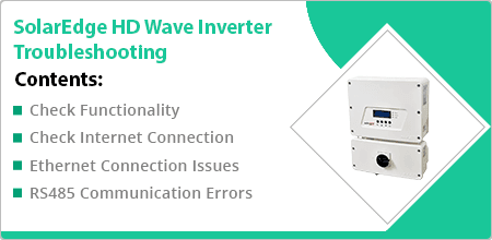 SolarEdge HD Wave Inverter Troubleshooting Guide