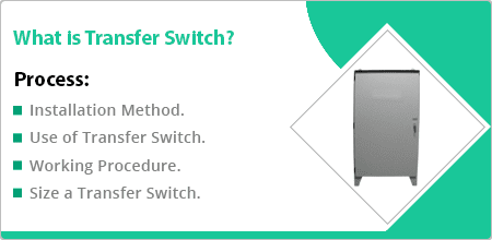 what does a generator transfer switch do