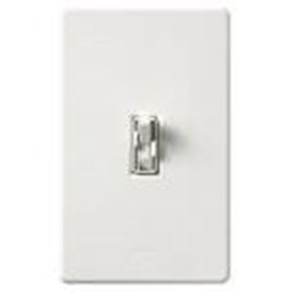 Picture of Lutron AY2-LFSQH-WH Fan/Light Control, Toggle Switch, 1-Pole, 300W, 1.5A, 120V, White