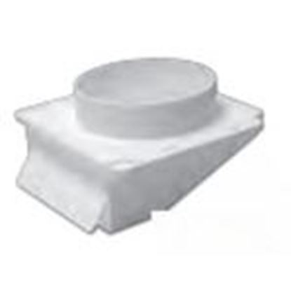 """Picture of Lambro 143B 4"""" Plastic Under Eave Vent, Brown"""