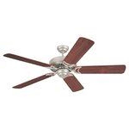 "Picture of Sea Gull 1535-962 52"" Paddle Fan, 5-Blade, Nickel/Mahogany"