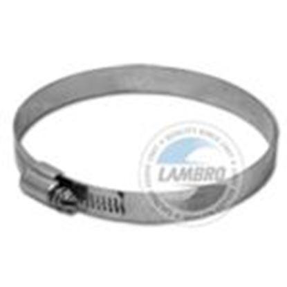 "Picture of Lambro 381 Galvanized Worm Gear Clamp, 6"""