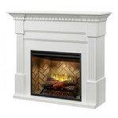 Picture of Electromode BM3033-1801W Classic Fireplace Mantel with Fluted Columns