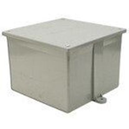 """Picture of 5133712 Junction Box, 4X, Screw Cover, 8"""" x 8"""" x 4"""", PVC/Gray"""