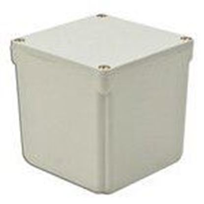 "Picture of 4x4x4 PVC J Box Junction Box, 4X, Screw Cover, 4"" x 4"" x 4"", PVC/Gray"