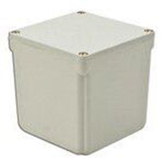 "Picture of 4x4x4 PVC J Box Junction Box, 4X, Screw Cover, 4"" x 4"" x 4"", PVC/Gray"