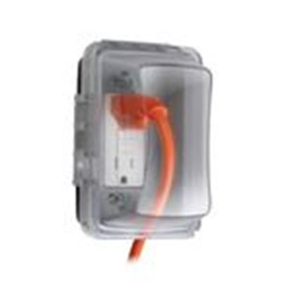 Picture of Hubbell-TayMac MM410C Weatherproof While-In-Use Cover, 1-Gang, Vertical, Clear
