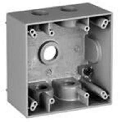 "Picture of BWF DTB-5V 2-5/8"" Deep, 2-Gang, Weatherproof Outlet Box"