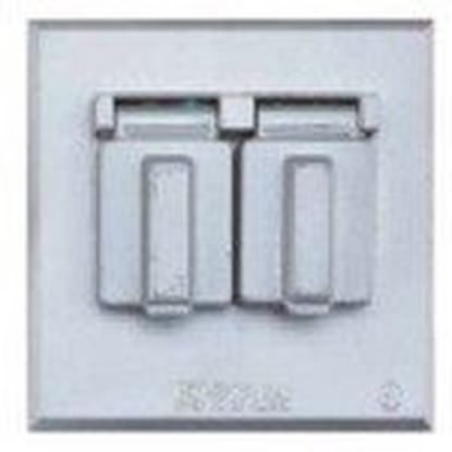 Picture of BWF FC-271V Duplex Receptacle, 2-Gang, Weatherproof Cover
