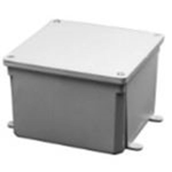 """Picture of 5133706 Junction Box, 4X, Screw Cover, 5"""" x 5"""" x 2"""", PVC/Gray"""