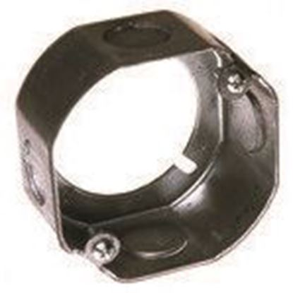 """Picture of Hubbell-Raco 111 3-1/2"""" Octagon Box Extension Ring, 1-1/2"""" Deep, 1/2"""" Kos, Steel"""