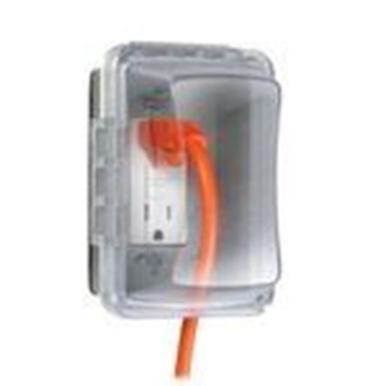 Picture of Hubbell-TayMac MM510C Weatherproof While-In-Use Cover, 1-Gang, Vertical/Horizontal, Clear