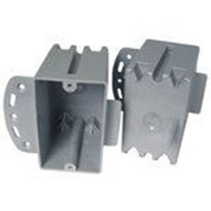 """Picture of Cantex EZ20SB Switch/Outlet Box, 1-Gang, Depth: 2-3/16"""", Nail-On, Non-Metallic"""