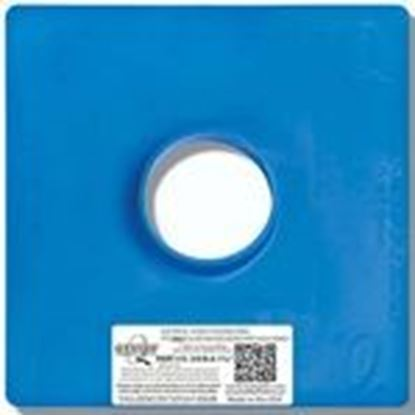 "Picture of Quickflash E-3/OB-A 1 3/8"" Steel Box Flashing Panel, Vertical Mount, Blue, Non-Metallic"