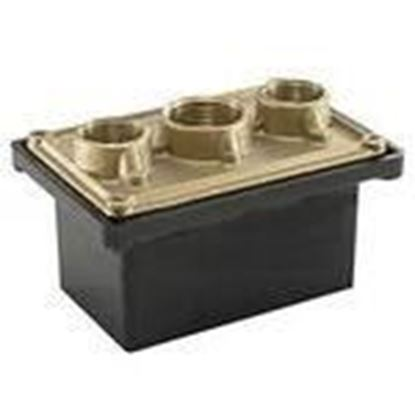 """Picture of BWF PB-100 Swimming Pool Junction Box, 1-Gang, 2-27/32"""" Deep, 3/4"""" and 1 """" Hubs"""