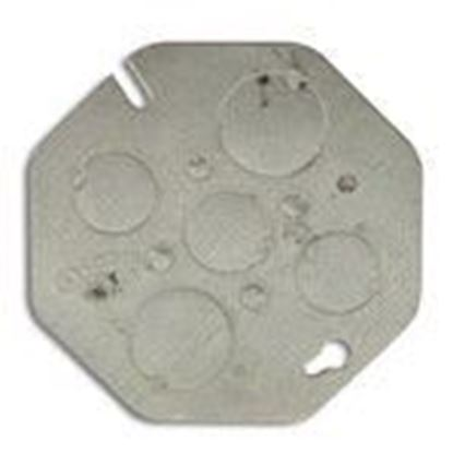 """Picture of Appleton 0CP Concrete Ring Cover, Diameter: 4"""", 1/2"""" and 3/4"""" Knockouts, Steel"""