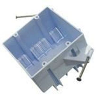 """Picture of Cantex EZ32DN Switch/Outlet Box, 2-Gang, Depth: 3-5/8"""", Nail-On, Non-Metallic"""