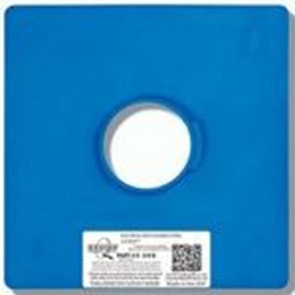 "Picture of Quickflash E-3/OB Flashing Panel, 1-Gang, Size: 11 x 11"", Blue, Non-Metallic"