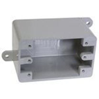 Picture of Cantex 5133420 PVC Device Box, 1-Gang, Type: Blank, Depth: 3""