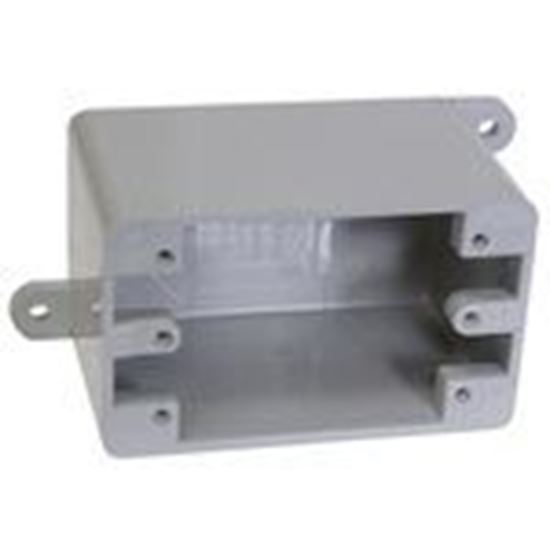"""Picture of Cantex 5133420 PVC Device Box, 1-Gang, Type: Blank, Depth: 3"""""""