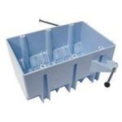"""Picture of Cantex EZ44TN Switch/Outlet Box, 3-Gang, Depth: 2-11/16"""", Nail-On, Non-Metallic"""