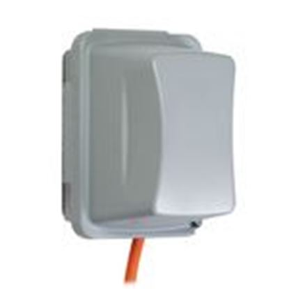 Picture of Hubbell-TayMac MM720G Weatherproof While-In-Use Cover, 1-Gang, Vertical/Horizontal, Gray