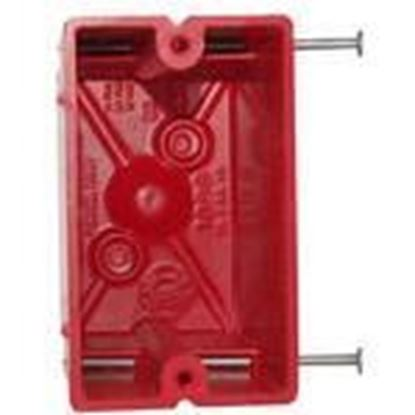Picture of Allied Moulded 1099-NRED 1-Gang, Nail-On, Fire Alarm Box