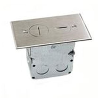 Picture of Lew SWB-2-NS Duplex Receptacle, 1-Gang, Floor Box Assembly