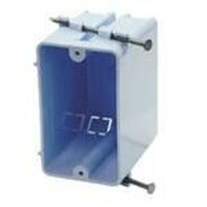 """Picture of Cantex EZ23SN Switch/Outlet Box, 1-Gang, Depth: 2-13/16"""", Nail-On, Non-Metallic"""