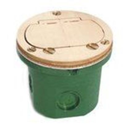 "Picture of Lew 812-DFB-LR Duplex Receptacle, 4"" Diameter, Floor Box Assembly"
