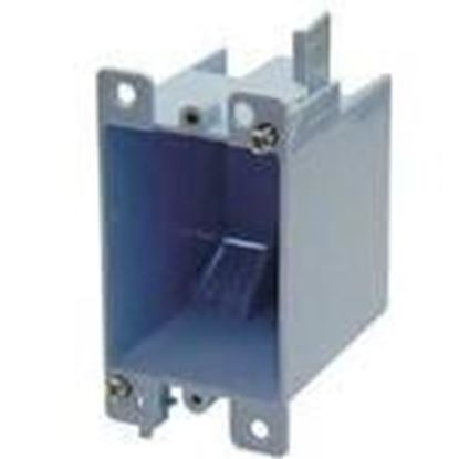 """Picture of Cantex EZ14SO Switch/Outlet Box, 1-Gang, Depth: 2-7/8"""", Brackets, Non-Metallic"""