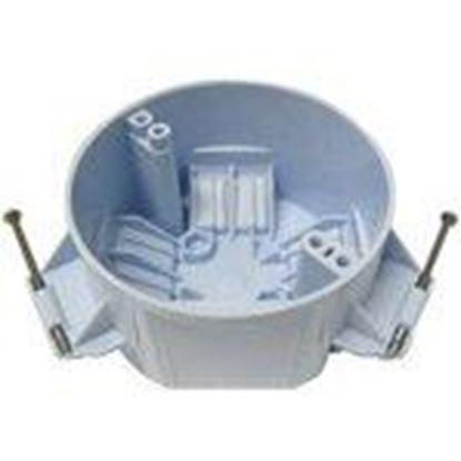 """Picture of Cantex EZ20CN 4"""" Round Ceiling/Fixture Box, Depth: 2-3/8"""", Nail-On, Non-Metallic"""