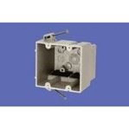 """Picture of Allied Moulded 2300-N Switch/Outlet Box, 2-Gang, Depth: 3"""", Nail-On, Non-Metallic"""