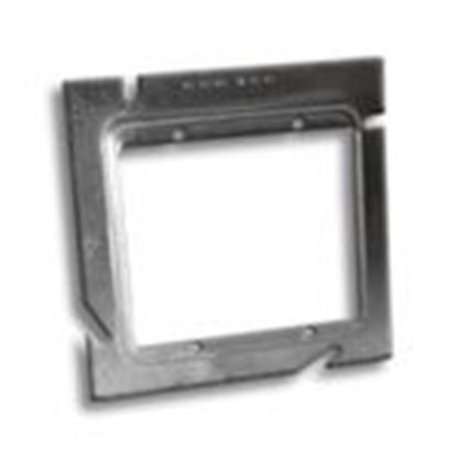 """Picture of RANDL Industries L-52G058-USA 5 Square to 2-Gang 5/8"""" Raise Mud Ring"""