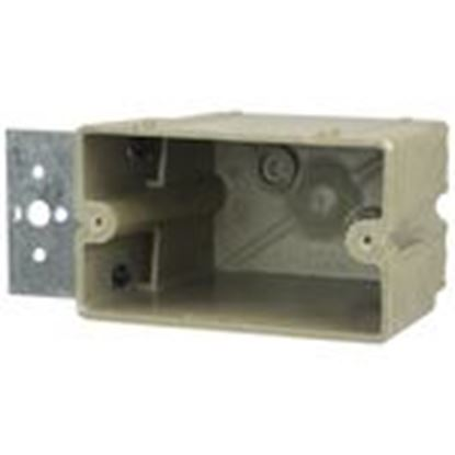 """Picture of Allied Moulded 1098-Z4H Switch/Outlet Box with Bracket, Depth: 1/2"""", 1-Gang, Non-Metallic"""