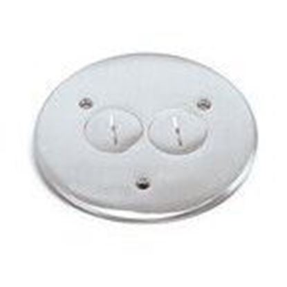 "Picture of Lew TCP-2-A Round Flanged Cover, 5-3/4"", Aluminum"