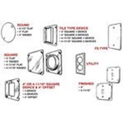 Picture of Mulberry Metal 11609 FS Cover, Type: GFCI, 1-Gang, (4) Screw, Steel