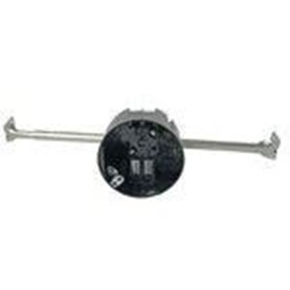 """Picture of Cantex EZ20CHG Ceiling Box With Adjustable Bar Hanger, Depth: 2-1/4"""", Non-Metallic"""