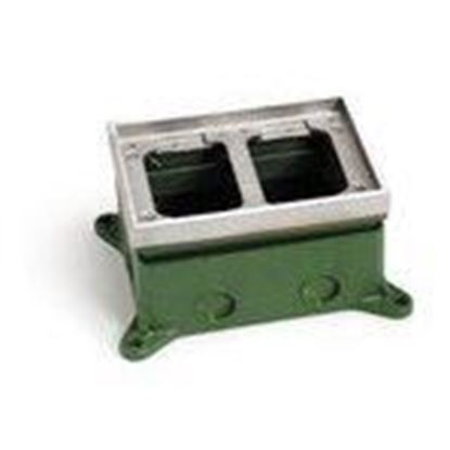 Picture of Lew 1102-58-A Adjustable Floor Box, Double Gang