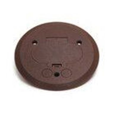Picture of Lew PFC-B Flanged Cover, Plastic, Brown