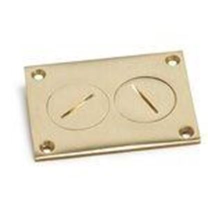 Picture of Lew 6304-DP Duplex Cover with Screw Plugs, Brass