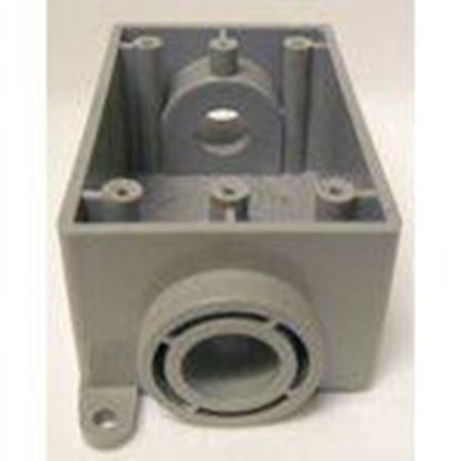 """Picture of Cantex 5133463 PVC Device Box, 1-Gang, Type: Blank, Depth: 2.38"""""""