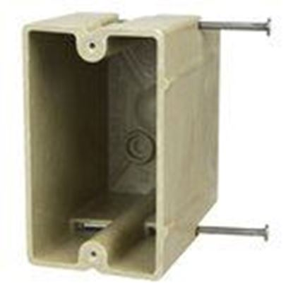 Picture of Allied Moulded 1098-NR Single gang electrical box for use with nonmetallic sheathed cable